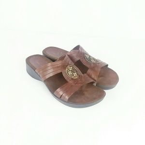 Bare Traps sandal with gold medallion detail